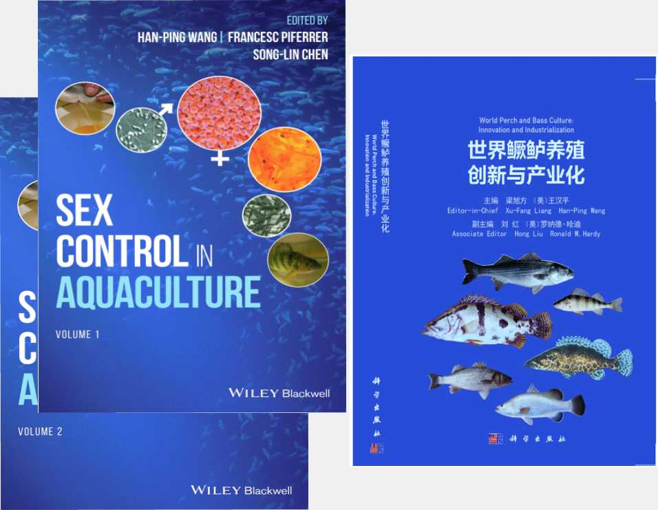 Aquaculture Sex-Control and Breeding Books Completed by Dr. Hanping Wang and his Colleagues