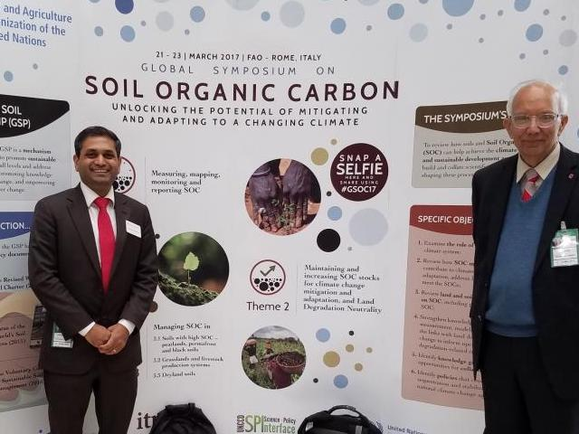 Vinayak shedekar visits fao to attend the global symposium for Soil organic carbon