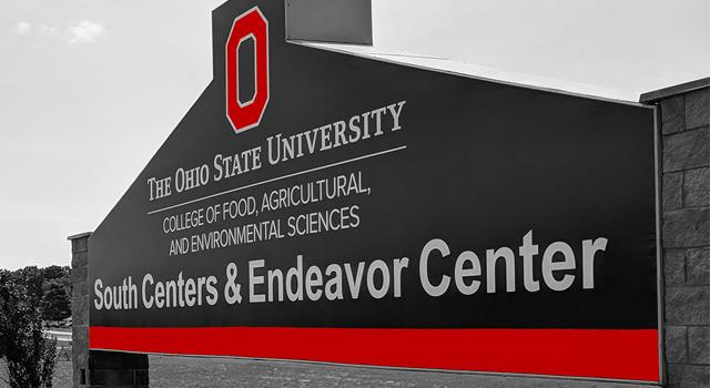 A picture of the OSU South Centers Research and Extension sign