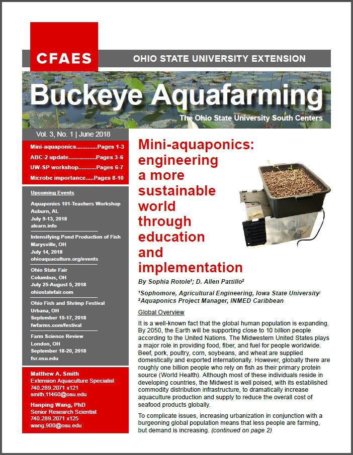 Buckeye Aquafarming cover: volume 2, number 2