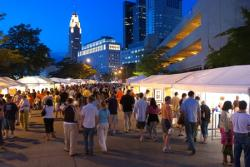 People at downtown festival