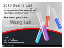 The award goes to the Wang Lab
